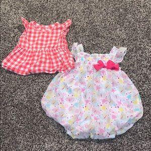 Baby Girls 9 Months Romper & Top